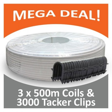 16 x 2mm 3 x 500 metre Coil & 3000 Tacker Clips
