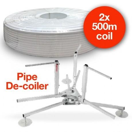 16 x 2mm 2 x 500 metre Coil & Pipe De-coiler